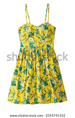 strapless flower pattern summer dress #1054745102