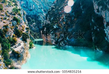 Beautiful landscape of Gorges du Verdon in south eastern France. #1054835216