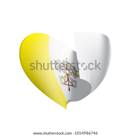 Vatican flag, vector illustration #1054986746