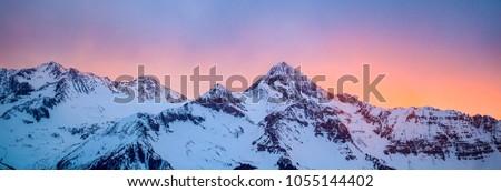 Mountains in Telluride, Colorado  Royalty-Free Stock Photo #1055144402