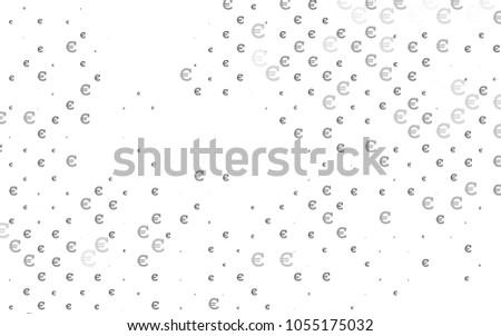 Light Silver, Gray vector template with cryptocurrency. Abstract illustration with colored financial digital symbols. Smart design for your business advert of economic, wealth. #1055175032