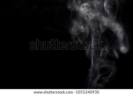 Smoke On Black Background #1055240930