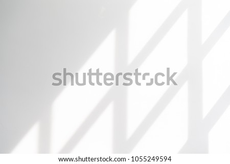 White empty wall with window shadow , perspective #1055249594