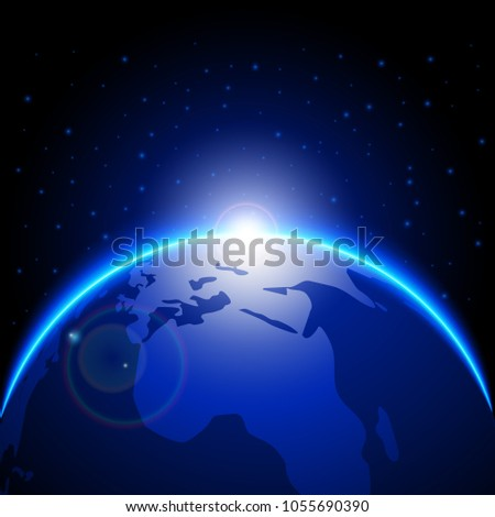 planet earth background, science and technology concept, vector design #1055690390