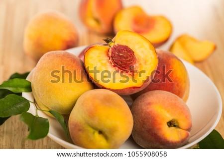 Fresh sweet Peaches #1055908058