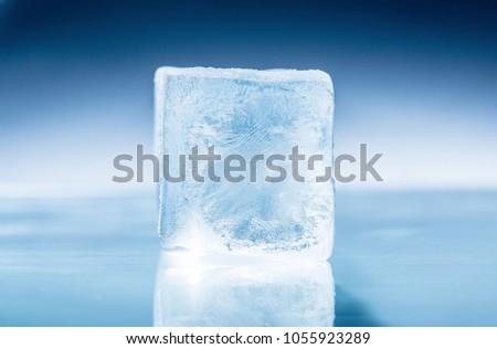 Frozen ice Cube Royalty-Free Stock Photo #1055923289