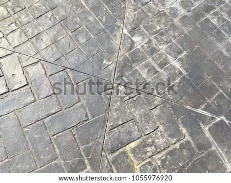 Grey stamped concrete background for texture design #1055976920