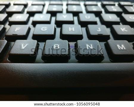 Black Keyboard Keys #1056095048