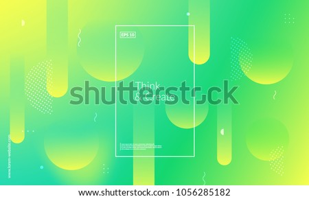 Wide geometric background. Simple shapes with trendy gradients composition. Eps10 vector. Royalty-Free Stock Photo #1056285182