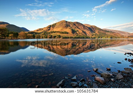 Lake Buttermere, Lake District Cumbria England Royalty-Free Stock Photo #105631784