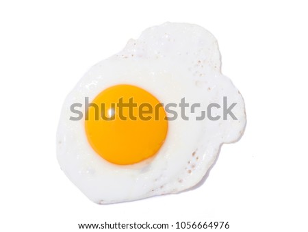 Fried yellow egg #1056664976