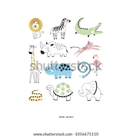 decorative safari animals set
