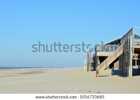 North Sea summer beach on the island Texel, Holland.Europe. #1056733685