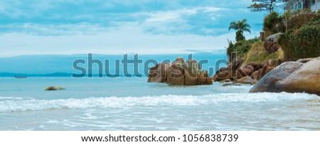 Barra da Lagoa beach, island of Florianopolis Brazil, #1056838739