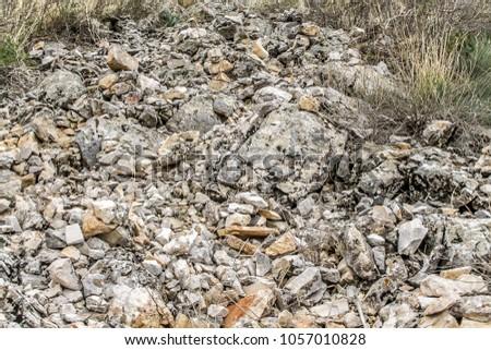 Rocky ground landscape #1057010828