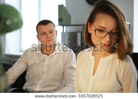 Office employees having business meeting #1057028525