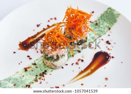 appetizing mini snacks of korean carrots #1057041539