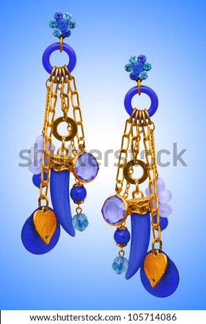 Jewellery concept with nice earrings #105714086