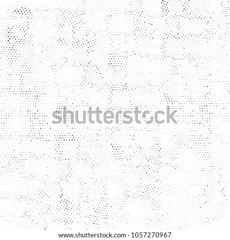 Abstract Monochrome Circles Background. Vector Grunge Black And White Modern Urban Pop Art Design. Halftone Texture For Banner, Poster, Cover, Label, Screen, Mockup, Sticker, Business Card #1057270967