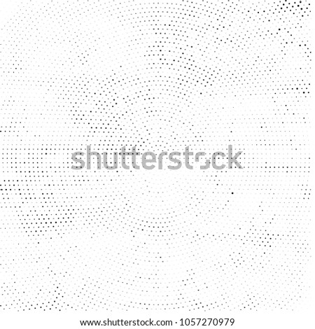 Abstract Monochrome Circles Background. Vector Grunge Black And White Modern Urban Pop Art Design. Halftone Texture For Banner, Poster, Cover, Label, Screen, Mockup, Sticker, Business Card #1057270979