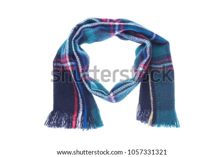 Checkered scarf it is isolated on a white background #1057331321