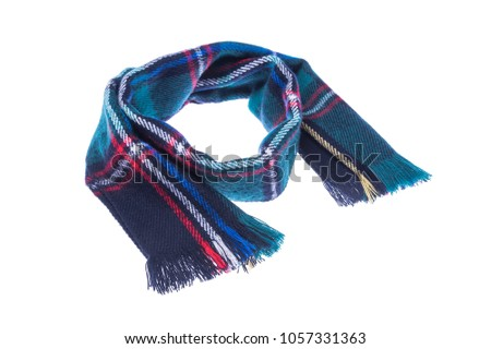 Checkered scarf it is isolated on a white background #1057331363