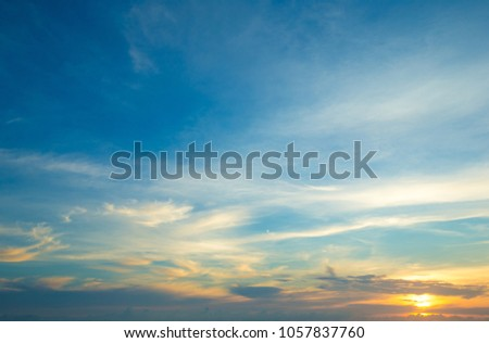 Colorful sky and sunrise. Natural landscape #1057837760