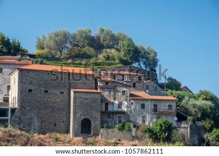 Mulazzo, Lunigiana, Massa Carrara, Tuscany, Italy, old typical village #1057862111