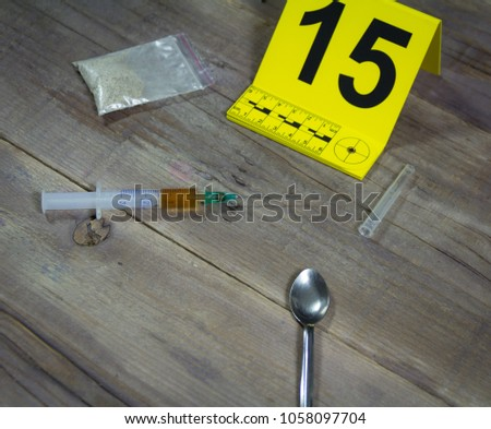 Evidence of drug abuse.The drug found at the scene of the crime #1058097704