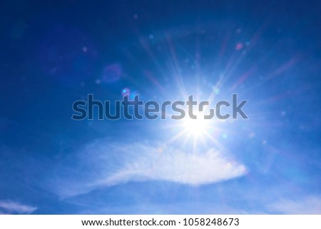 bright sun, long colored rays                                #1058248673