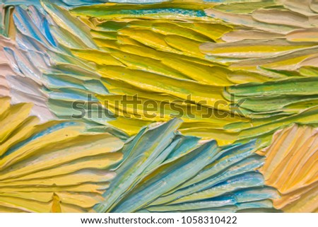 Abstract 3D acrylic painting background acrylic painting on canvas d three dimensional texture Royalty-Free Stock Photo #1058310422