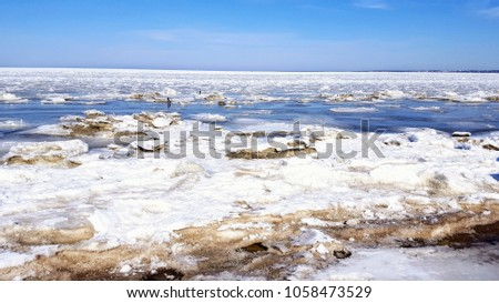 Sea ice in spring #1058473529