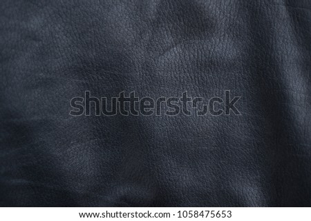 black leather texture background. Calf leather and lamb leather.  #1058475653