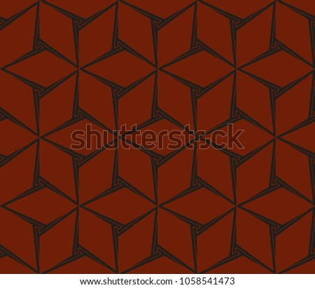 Stylish geometric background. Abstract seamless pattern. Vector illustration. #1058541473