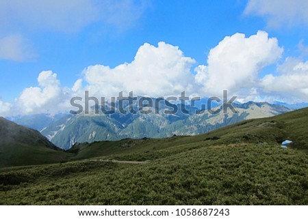 A view of mountains in Taiwan #1058687243