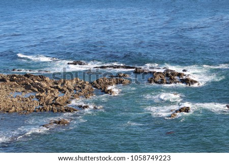 Rocky West Coast across Palos Verdes California #1058749223