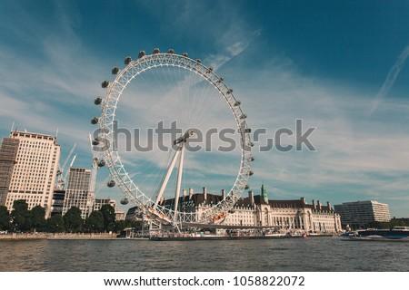 London Eye, London, United Kingdom. #1058822072