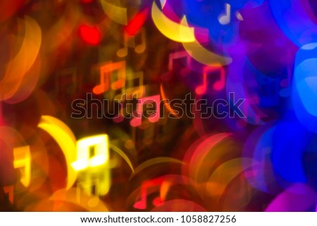 Note, yellow, blue and red light bokeh background #1058827256