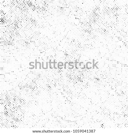Abstract Monochrome Circles Background. Vector Grunge Black And White Modern Urban Pop Art Design. Halftone Texture For Banner, Poster, Cover, Label, Screen, Mockup, Sticker, Business Card #1059041387