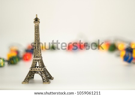 Eiffel tower isolated over the white background. #1059061211