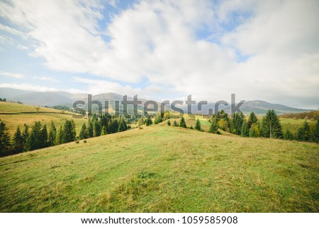 Beautiful autumn landscape #1059585908