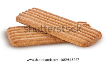 Tasty biscuits isolated on white background. Clipping Path. Full depth of field. #1059818297