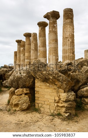 Hercules Temple, Valley of temples, Agrigento, Sicily #105983837