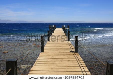 pier in the sea #1059884702