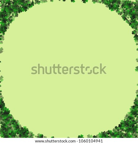 Clover is a confetti which consist of many isolated elements. Stylish and beautiful clover. Can be used as poster, border, background, wallpaper, card and etc #1060104941