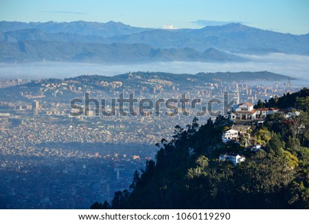 aerial view of the city of Bogota #1060119290