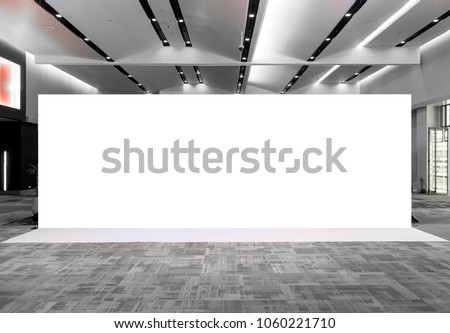 Fabric Pop Up basic unit Advertising banner media display backdrop, empty background Royalty-Free Stock Photo #1060221710