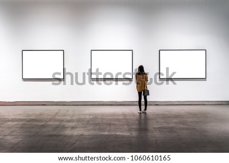 beautyful girl in gallery Royalty-Free Stock Photo #1060610165