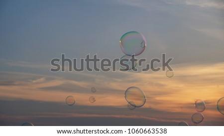 Sunset and Bubbles at Dataran 1 Malaysia, Klebang, Malacca, Malaysia. #1060663538