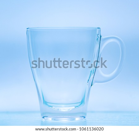 glass on blue background #1061136020
